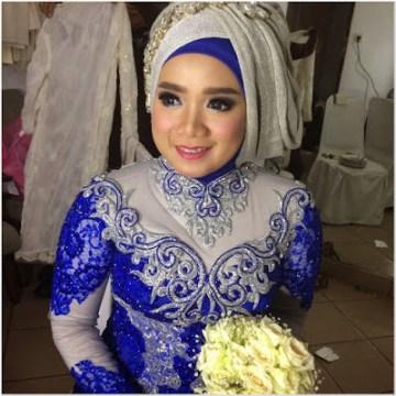 Hijab Pengantin Untuk Wajah Tembem