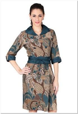 Model Baju Batik Casual Cantik