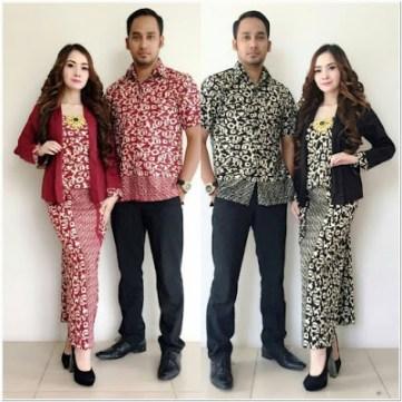 Model Kebaya Kutubaru Couple Batik Modern