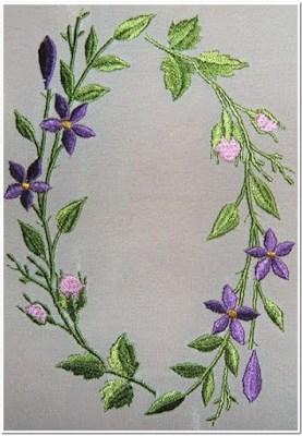 Motif Bordiran Dengan Bunga Kecil