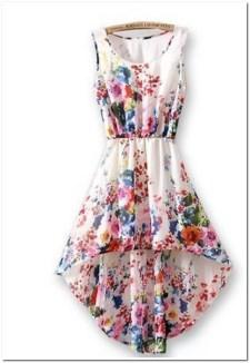 model dress motif bunga besar