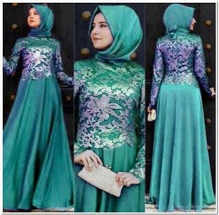 Model Baju Gamis Batik Kombinasi Brokat Terbaru The Blouse