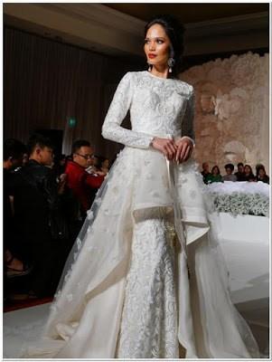 Inspirasi Gaun malam pengantin