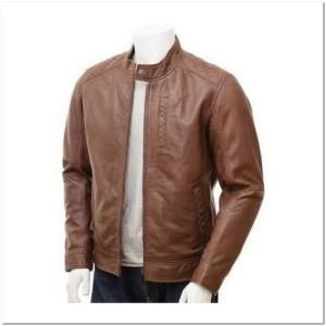 gambar jaket kulit simple