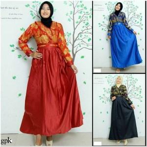 Rekomendasi Model baju batik untuk wanita gemuk berjilbab