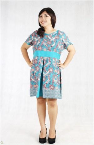 gambar Model baju batik untuk wanita badan gemuk pendek