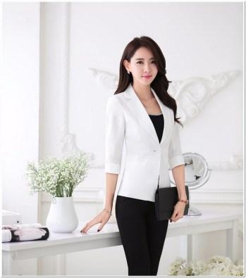 Model baju kerja wanita blazer batik