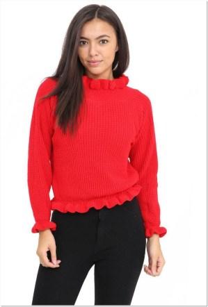 Sweater wanita murah Warna merah
