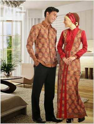 Baju kurung kombinasi batik terbaru