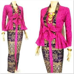 Foto baju kebaya kombinasi batik