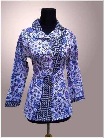 Model baju model batik kerja guru lengan panjang