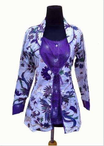 Model baju batik kerja guru keren
