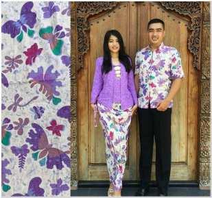 Model baju kebaya batik kombinasi brokat