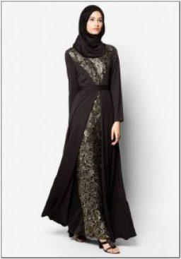 Model baju gamis batik sederhana tapi elegan