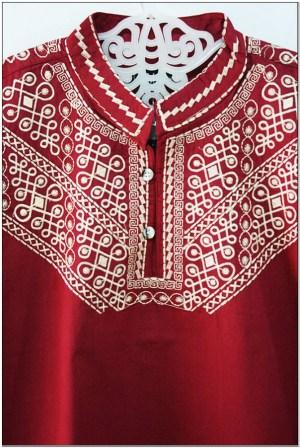 Koleksi Baju koko warna merah marun