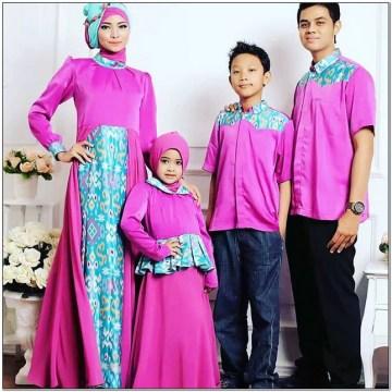 Model Busana baju batik keluarga untuk lebaran