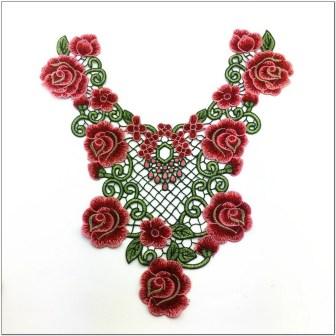 Contoh Motif Bordir Bunga Terbaru Yang cantik