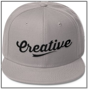 Gambar bordiran topi keren Tulisan Creative