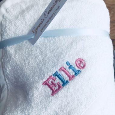 Desain souvenir handuk bordir nama
