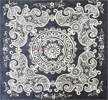 Motif batik taplak meja sederhana