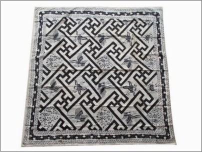 Motif batik taplak meja simple