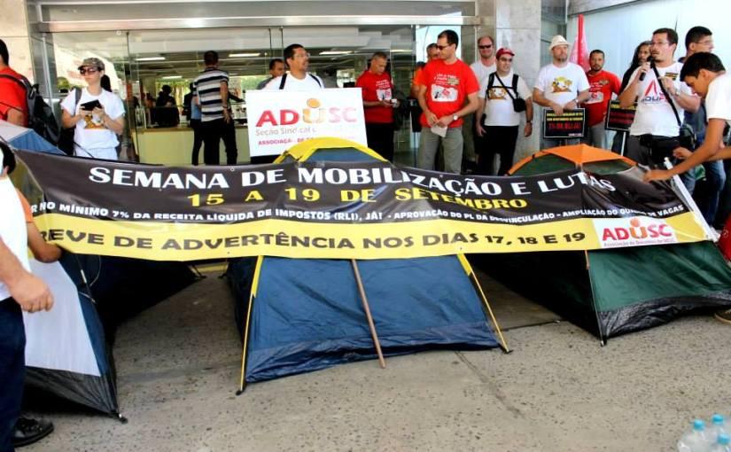 Após greve de advertência governo promete ampliação do quadro de vagas