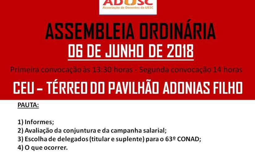 CONVOCAÇÃO DE ASSEMBLEIA