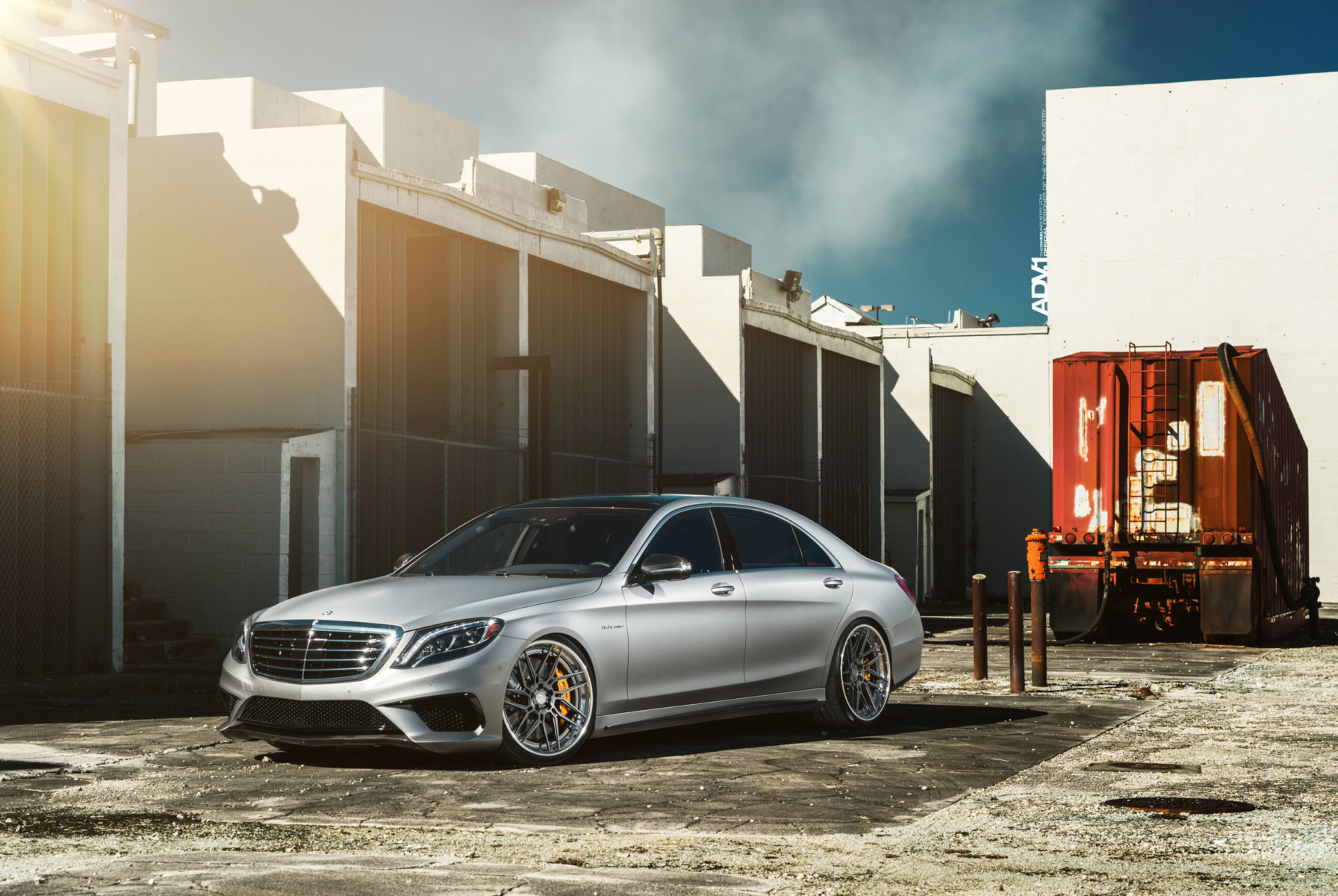 Matte Silver Mercedes S63 Amg Adv7r Track Spec Cs Series Wheels