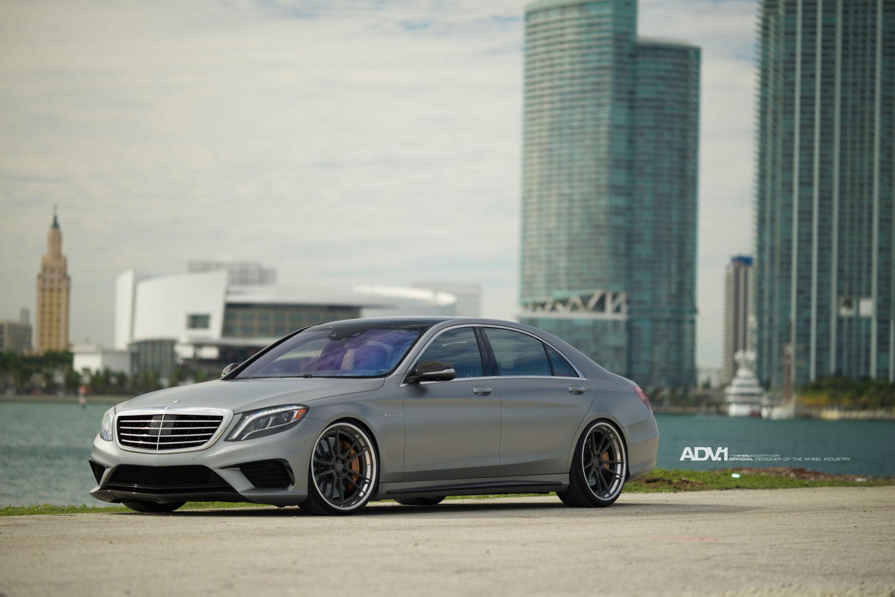 Matte Silver Mercedes S63 Amg Adv52 Track Spec Cs Series Wheels