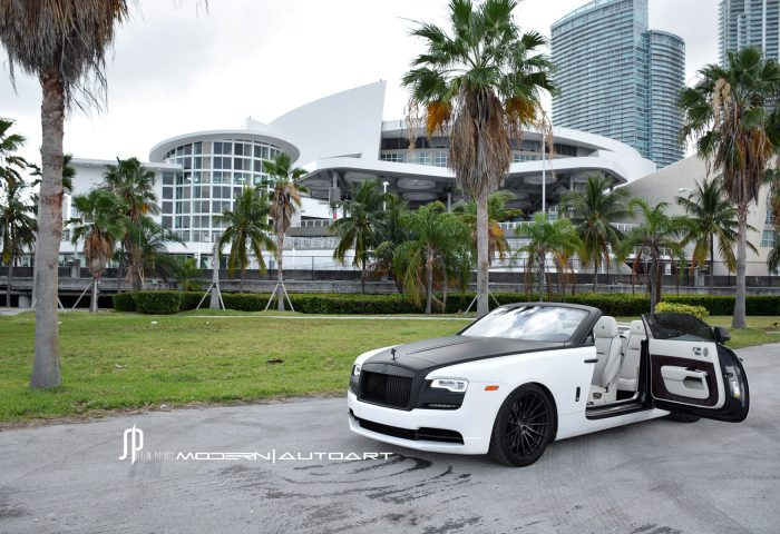White Rolls Royce Dawn Adv15 Mv2 Cs Concave Wheels