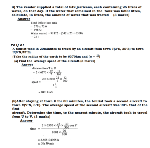 KCSE Mathematics Past Paper 2 2016: Free Tips 18
