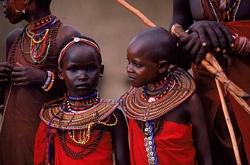 Maasai Girls in a Masai Village