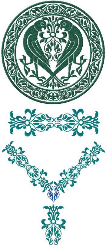 Advanced Embroidery Designs Bird Art Nouveau Decorating Set