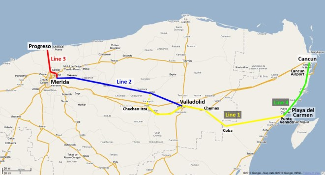 Yucatan Route Map
