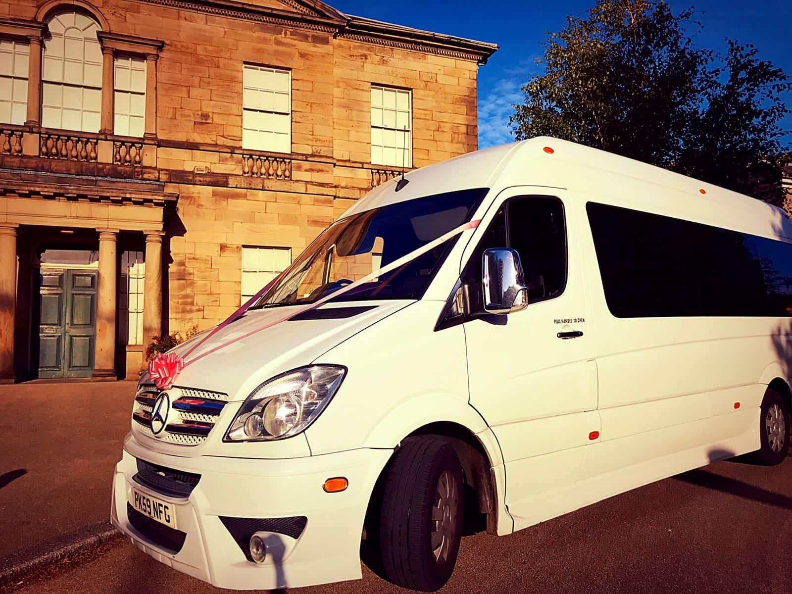 Luxury Minibus Wedding Hire