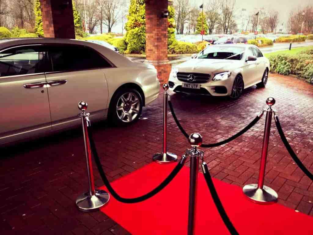 Mercedes-Benz-E-Class-Chauffeur-Hire-Wedding-White-Ribbon