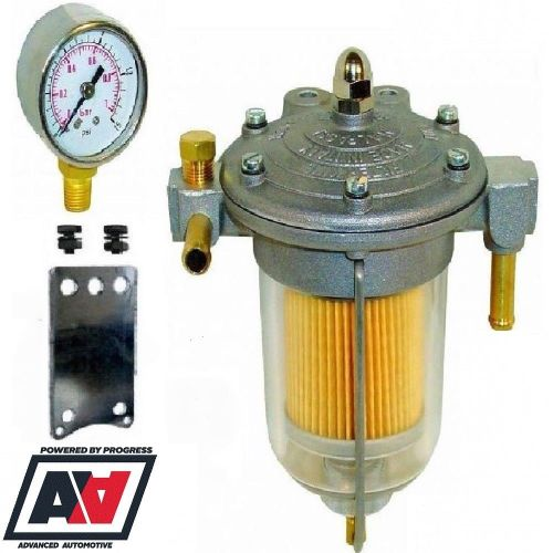 small resolution of fuel pressure regulator filter king 85mm glass bowl with sytec fuel gauge advanced automotive