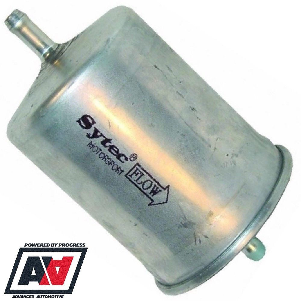 medium resolution of sytec motorsport in line fuel filter 8mm tails in out steel body ssf2070 advanced automotive