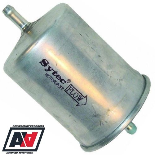 small resolution of sytec motorsport in line fuel filter 8mm tails in out steel body ssf2070 advanced automotive