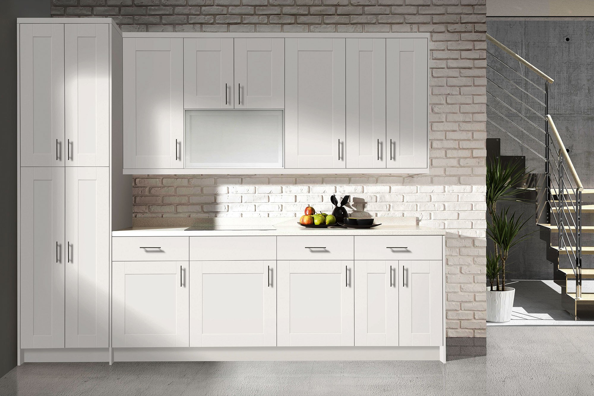 kitchen cabinets white small island for bianca bath bathroom shaker in stock
