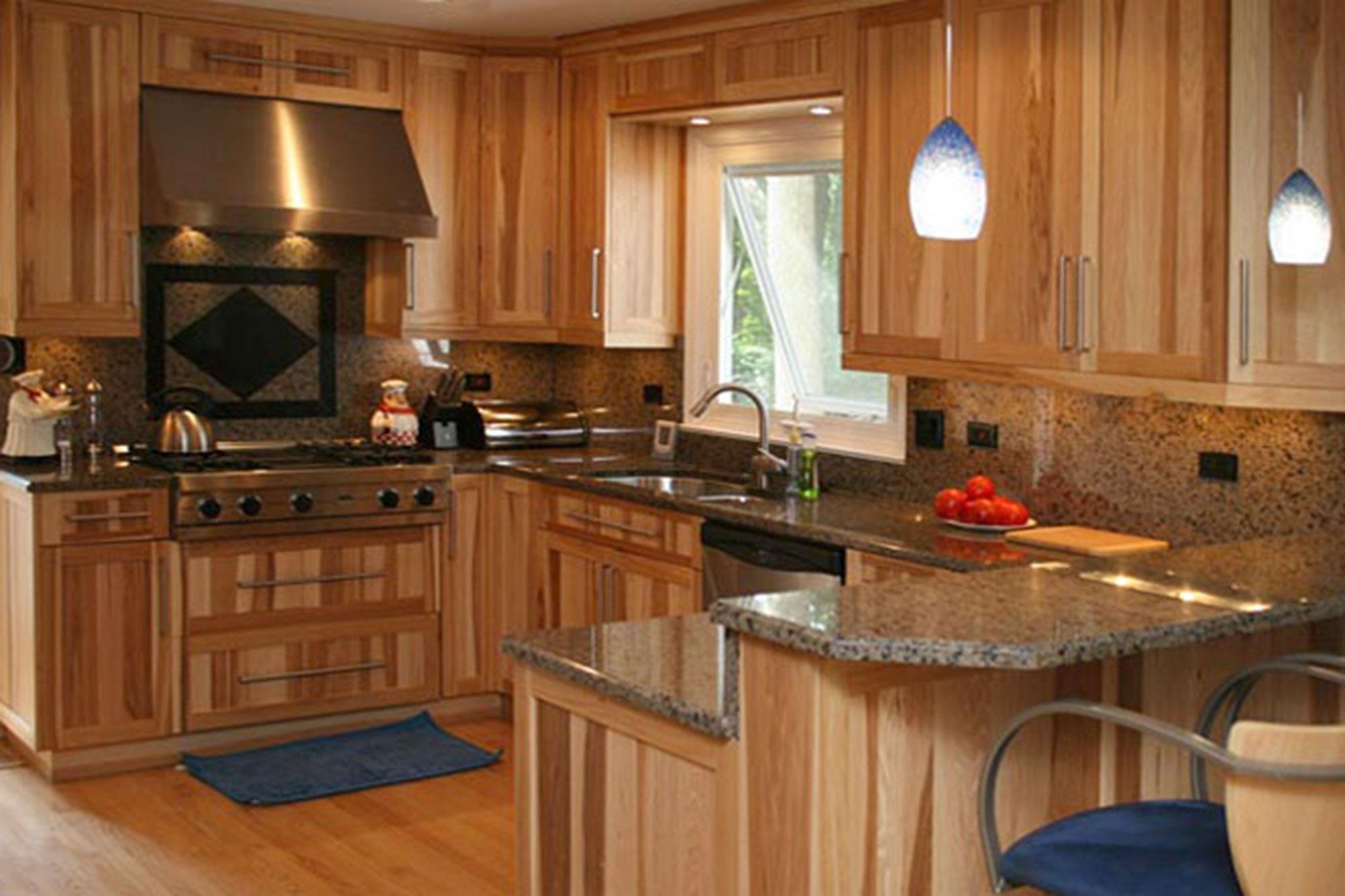 kitchen cabinets wood ranges custom bath melamine hickory semi