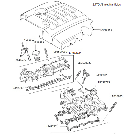 Inlet Manifold & Engine Cover
