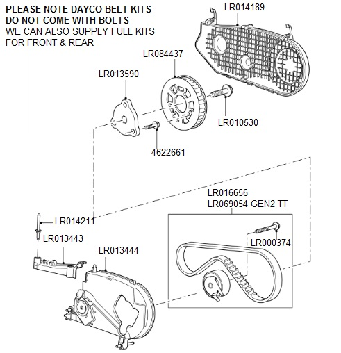 Fuel Injection Pump Drive Belt