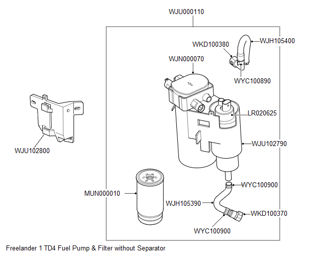 TD4 Remote Fuel Pump Without Separator