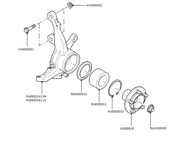 Front Hub & Carrier