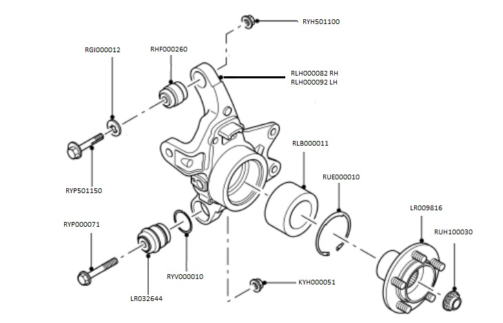 Land Rover Discovery Steering Parts Diagram. Rover. Auto