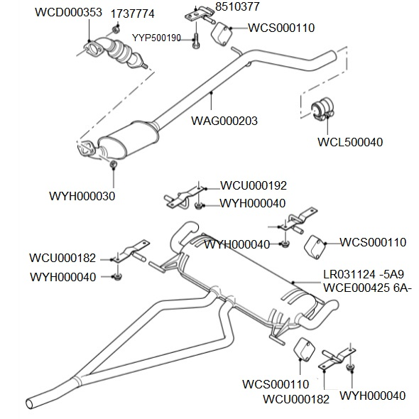 3.0 TD6 2002-06 EXHAUST SYSTEM