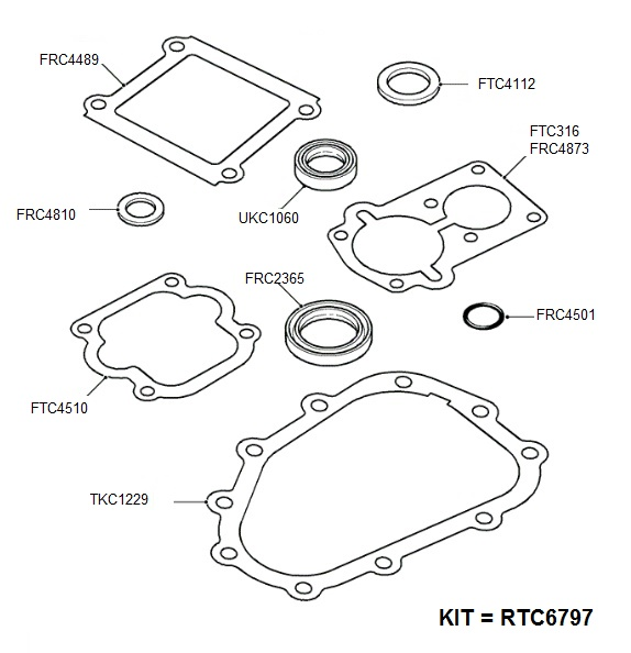 LT77 TRANSMISSION GASKETS AND SEALS