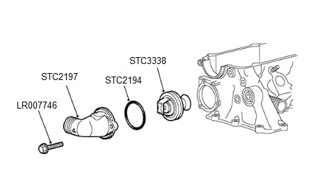 THERMOSTAT & HOUSING
