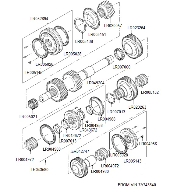 MT82 TRANSMISSION OUTPUT SHAFT 1
